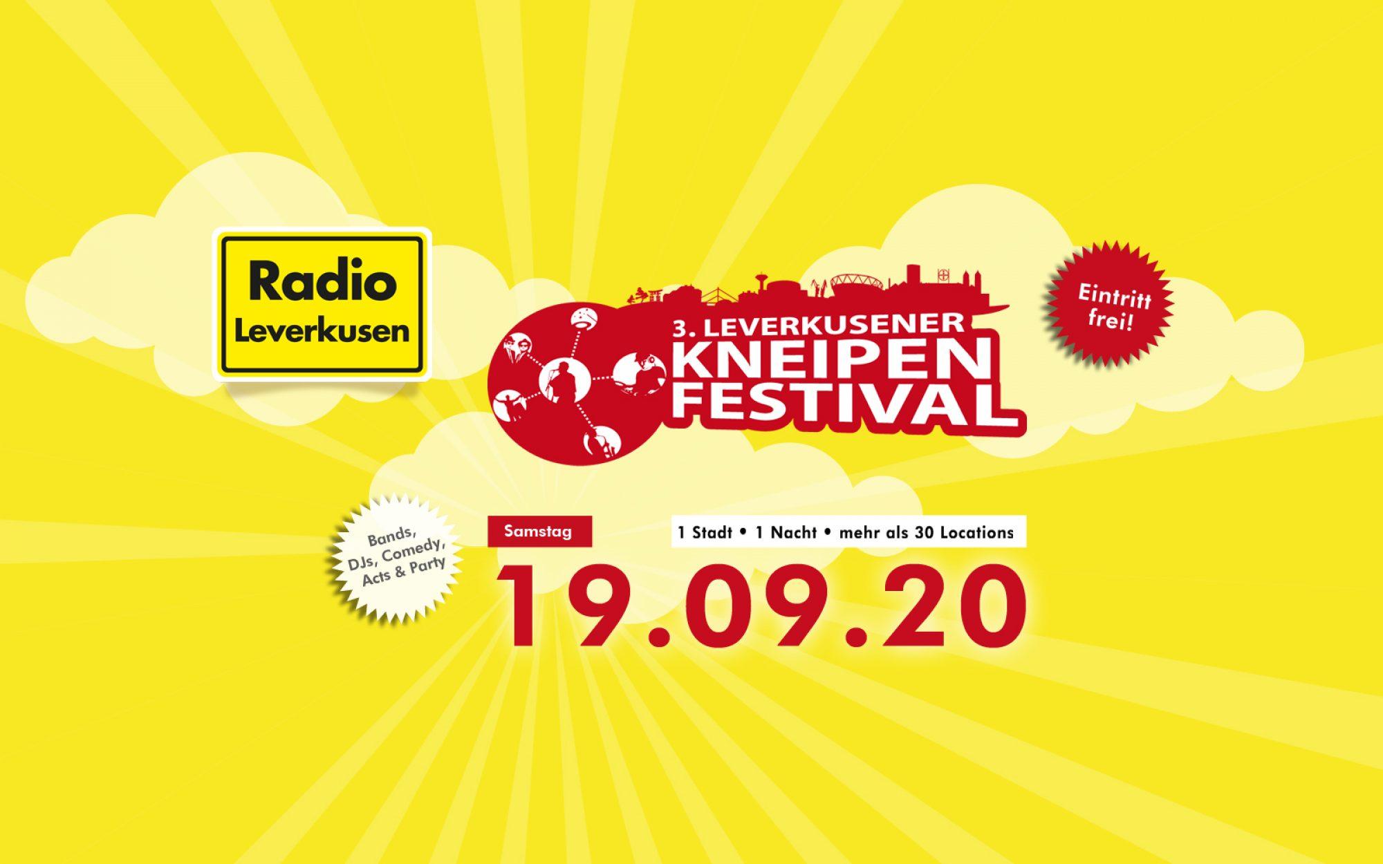 3. Leverkusener Kneipenfestival am 19.09.2020